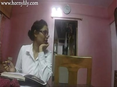 Indian Aunty Sex Horny Lily In Office HD